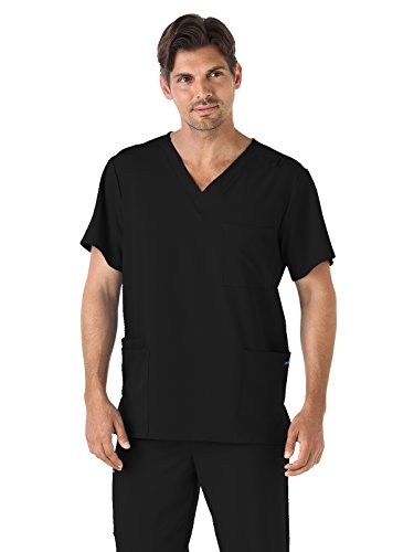 Classic Fit Collection by Jockey Unisex V-Neck Solid Scrub Top Small ()