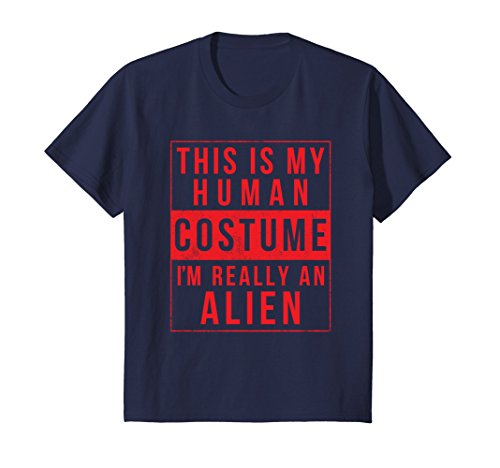 Costume Female Alien (Kids Alien Halloween Costume Shirt Funny UFO Easy for Men Women 12)
