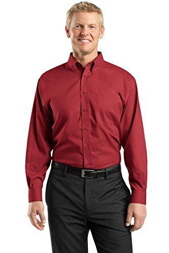 Red House® - Nailhead Non-Iron Button-Down Shirt - Deep Red - XX-Large