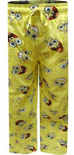 Mad Engine Men's Nickelodeon Spongebob Happy Faces Big Guys Lounge Pants (3X) Light Yellow