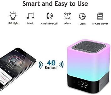 MRXUE LED Bluetooth Altavoz luz Bluetooth de los niños Reloj ...