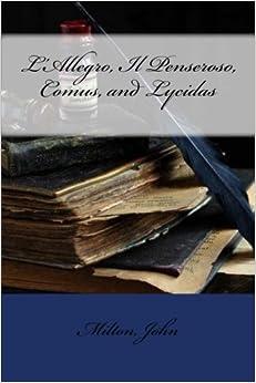 Book L'Allegro, Il Penseroso, Comus, and Lycidas