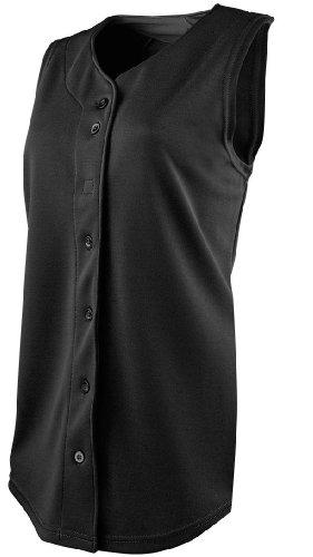 Rawlings Women's Sleeveless Full Button WSJ170 Softball Jersey