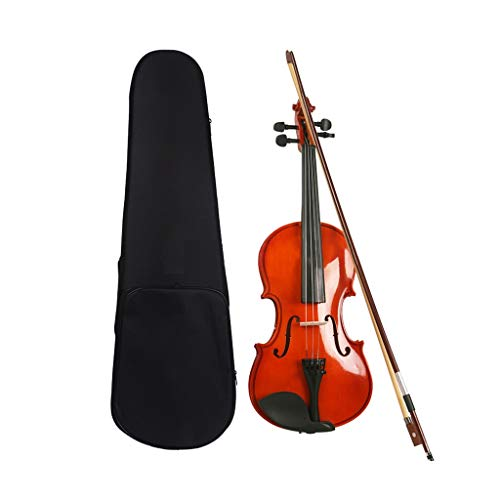 (Violin Solid Wood Light Professional Grading Performance Bow String Instrument Full Accessories Beginner Music Gift Give a Bag (Color : Red, Size :)