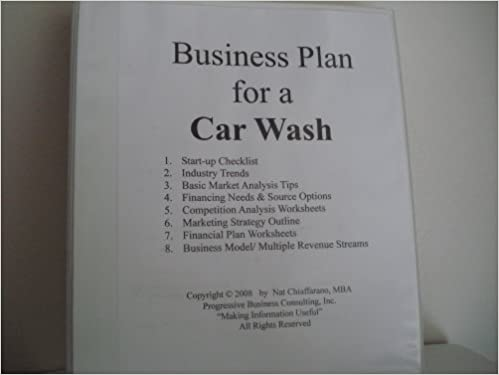 Business Plan for a Mobile Car Wash Service Professional Fillin – Car Wash Business Plan Template