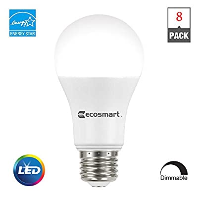 (8-Pack) EcoSmart 60W Equivalent Soft White A19 Dimmable LED Light Bulb