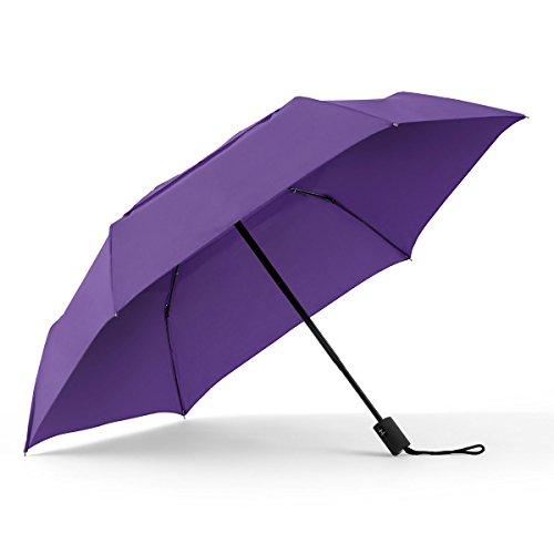 ShedRain WindPro Flatwear Vented Auto Open/Close Purple Compact Umbrella: Hyacinth ()