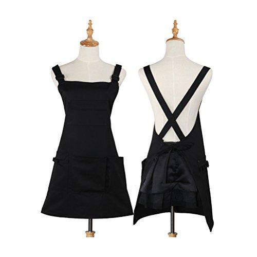 Nanxson Fashion Women Multi Function Working Work Apron with Tool Pockets CF3010 Black by Nanxson (Image #3)