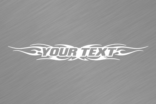 Sticky Creations   Design  116 Your Custom Text Personalized Customized Lettering Tribal Flame Windshield Decal Sticker Vinyl Graphic Back Window Banner Car Truck Suv   36 X4 25    White