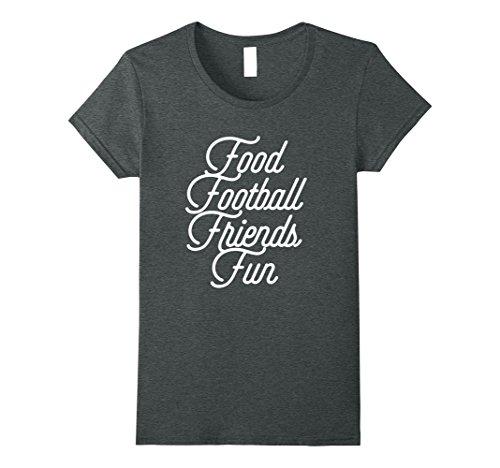 Womens Food Football Friends Fun Friendsgiving Shirt XL Dark - Food Friendsgiving For