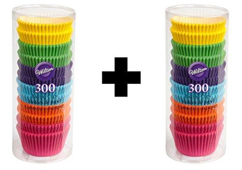 Wilton 415-2179 300 Count Rainbow Bright Standard Baking Cups Pack of Two