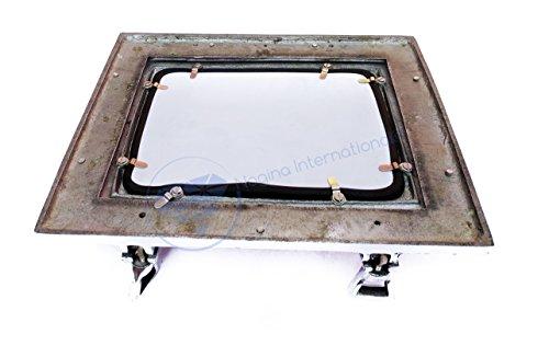 Rectangular Aluminum Porthole Mirror   Metal Home Decor   Wall Mirror   Nagina International