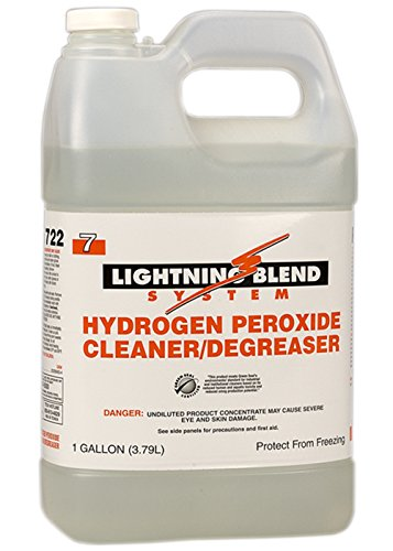 Franklin Cleaning Technology F455722 Lightning Blend #7 Hydrogen Peroxide Cleaner and Degreaser, 1 Gallon (Pack of 4) ()