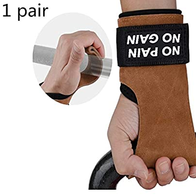 XCBW pair weightlifting gloves rubber band adjustable wristband suitable for men and women protect the palms during exercise gymnastics and weightlifting Estimated Price £15.99 -