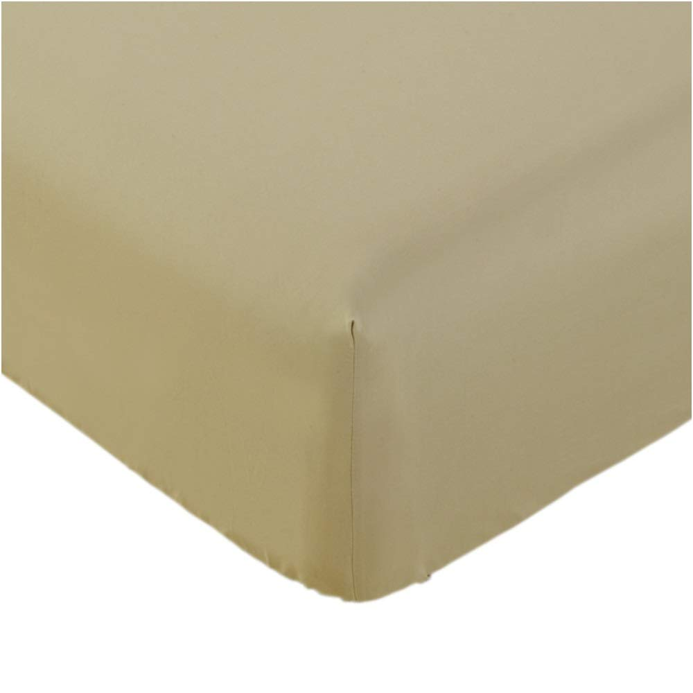 Mellanni Fitted Sheet TwinXL Gold - Brushed Microfiber 1800 Bedding - College Dorm Room - Wrinkle, Fade, Stain Resistant - Hypoallergenic - 1 Fitted Sheet Only (Twin XL, Gold)