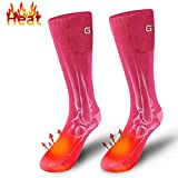 Autocastle Heated Socks Novelty Rechargeable Electric Battery Operated Heating Sox Kit,Sports Outdoor Recreation Climbing Hiking Camping Footwarmer,Winter Warm Clothing Apparel Electric Heated Socks