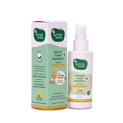 Mother Sparsh Natural Insect Repellent for Babies, Herbal Armor, 100% Protection from Mosquitoes, Fleas and Ants