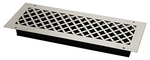 SteelCrest BTU20X6SWHH Bronze Series Designer Wall/Ceiling Vent Cover, with Air-Volume Damper, and Mounting Screws, White by SteelCrest