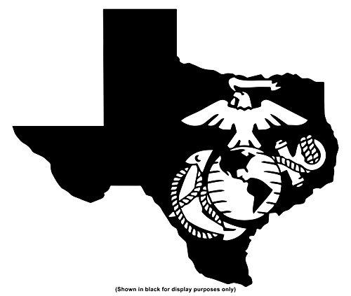 Tumbler Curve (United States Marine Corps (USMC) Eagle, Globe and Anchor (EGA) 50 States YETI 30 oz Rambler Tumbler Cup (DECAL ONLY) Vinyl Decal Sticker, Texas, YETI, W 4