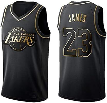 ppx Camiseta De Baloncesto para Hombre New Gold Lakers James # 23 ...