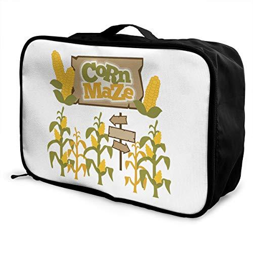 Corn Maze Lightweight Large Capacity Portable Luggage Bag Fashion Travel Duffel Bag