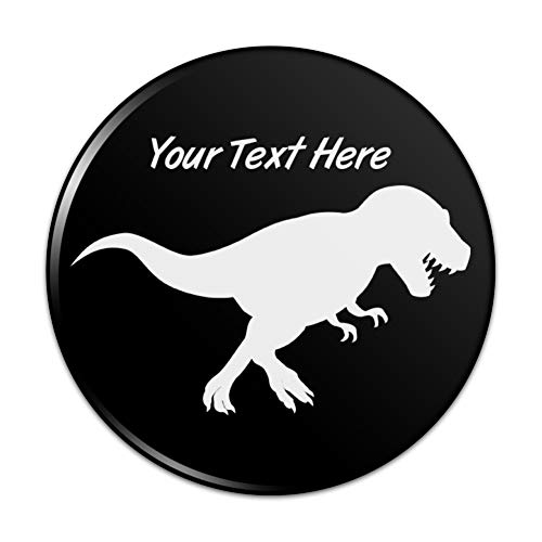 - Personalized Custom 1 Line Dinosaur Tyrannosaurus Rex Kitchen Refrigerator Locker Button Magnet - 2.25