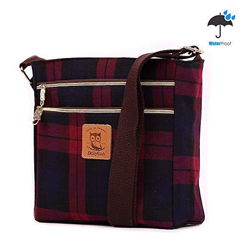 (DollyClub Laptop Tote Computer Bag Laptop Shoulder Bag Laptop Messenger Bag Tote Purse Plaid Pattern Design Waterproof for Men, Women, Girls and Boys)