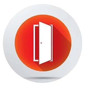 alfombrilla de ratón icono de la puerta. - ronda - 20cm