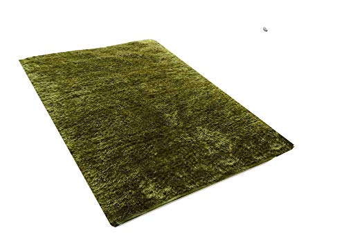 Green Grass Feather Touch Handmade Carpet by AuraSage Designs
