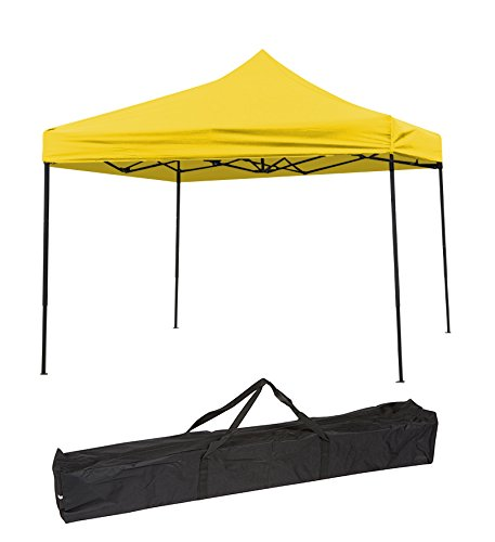 Trademark Innovations Lightweight & Portable Canopy tent set - 10' x 10' - (Yellow Canopy Cover) by Trademark Innovations