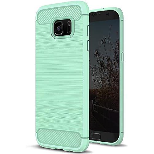 Galaxy S7 Edge Case, Pasonomi [Premium Texture] Thin Slim Fit Bumper TPU Rubber Soft Flexible Shock Scratch Resist Sales