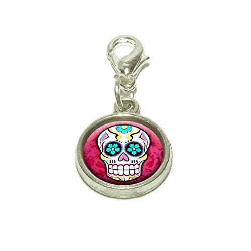 Charm Dangling Pendant (Sugar Skull Dangling Bracelet Pendant Charm)