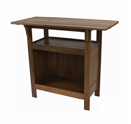 Contemporary Country Traditional Brown Rectangle Outdoor Wooden Bar Table