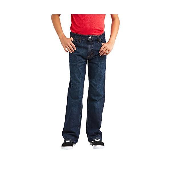 Wrangler Authentics Big Boys' Boot Cut Jeans, fresh indigo flex 16