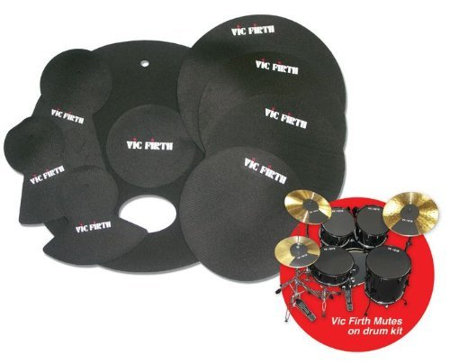 Drum Mute Practice Pad Snare - Vic Firth MUTEPP6 Fusion Drum and Cymbal Mute Pack