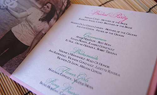 Booklet Square Wedding Programs
