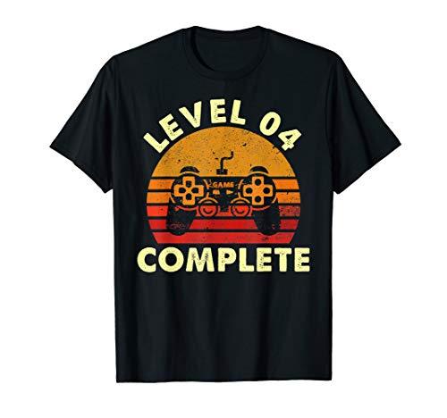 Level 4 Complete Vintage T-Shirt Celebrate 4th Wedding