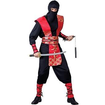 Amazon.com: Adults Mens Ninja Master Costume for Oriental ...