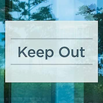 5-Pack Keep Out Basic Teal Window Cling 36x24 CGSignLab