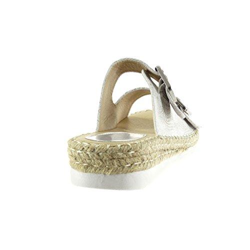Suela Cuerda cocodrilo Serpiente de Tal Zapatillas de Angkorly Zapatillas Piel Sandalias Moda Alpargatas Mujer RqIxv7Pw