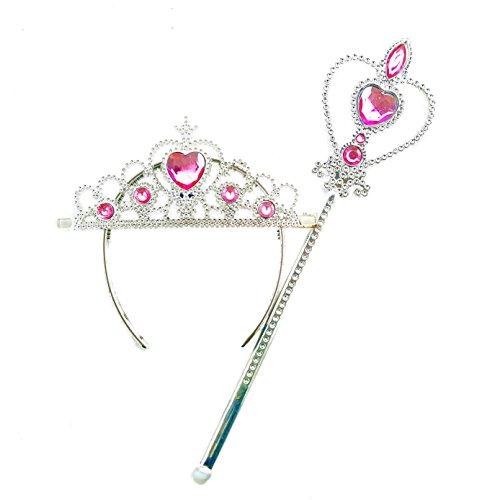 DailyProposal Princess Tiara & Wand Set USA (Baby Pink)