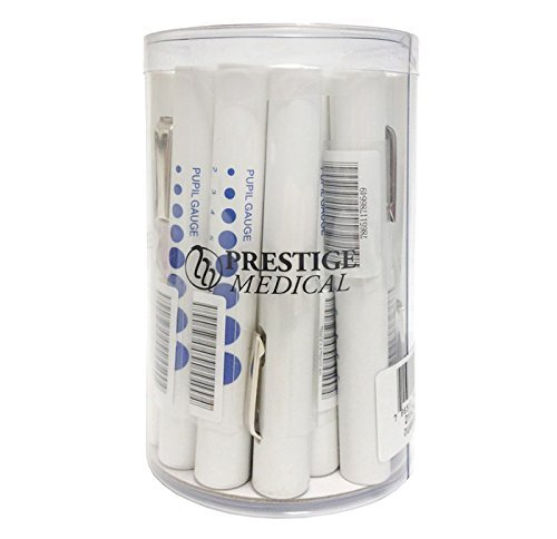 Prestige Medical Pupil Gauge Disposable Penlight, White, 18.00 Ounce
