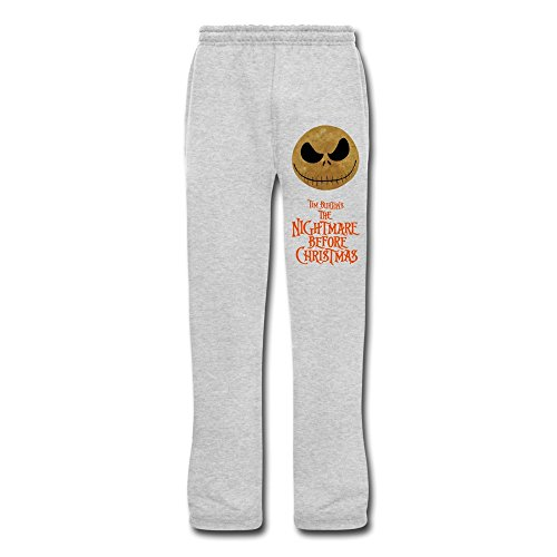 HOORIE Men's The Nightmare Before Christmas Sweatpants Ash Medium