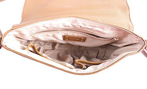 Studded Handbag Crossbody Faux Nine Star Lined Tobacco Leather Womens West R8qqwx7F