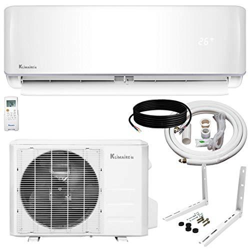 Klimaire 9,000 BTU KSIV 19 SEER Ductless Mini-Split Inverter Air Conditioner Heat Pump System with 15-ft Installation Kit 115V