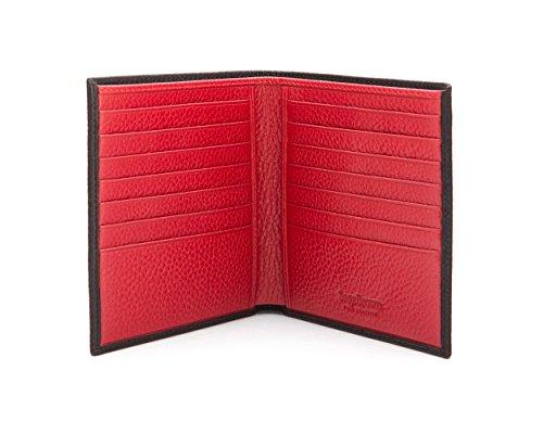 SAGEBROWN Black With Red 14 Credit Card Billfold Wallet by Sage Brown (Image #3)
