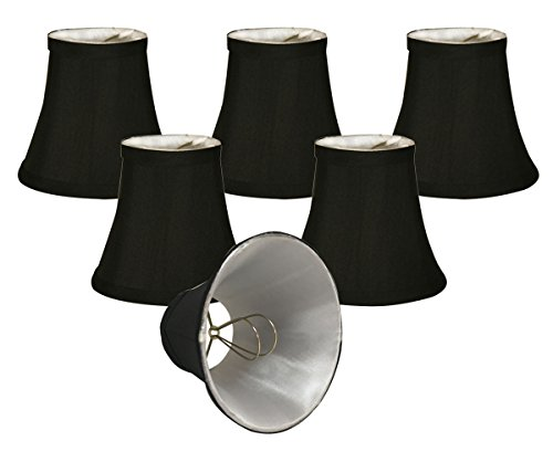 Royal Designs CSO-1024-5BLK/WH-6 Chandelier Lamp Shades, 3