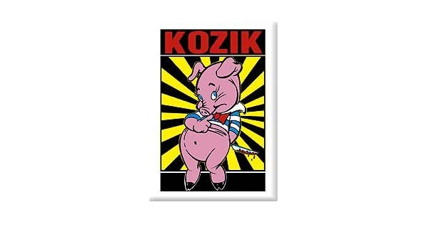 Artista Frank Kozik Piggums (cerdo con cuchillo) imán para nevera ...