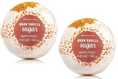 Bath and Body Works 2 Pack Warm Vanilla Sugar Bath Fizzy 4.6 Oz. (Bath Soak Sugar)