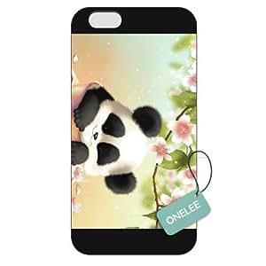 Onelee(TM) - Customized The Panda Flowers Apple iPhone 6 Plus 5.5 Hard Plastic case cover